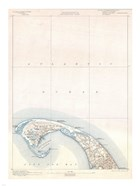 1900 U.S. Geological Survey Map of Provincetown, Cape Cod, Massachusetts 1900