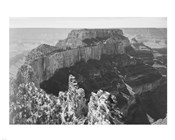 Close-in view of curved cliff, Grand Canyon National Park, Arizona
