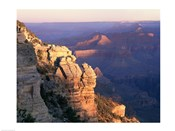 High angle view of rock formations, Grand Canyon National Park, Arizona, USA