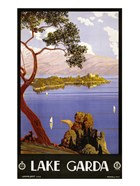Lake Garda Travel Poster