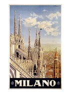 Milano Travel Poster