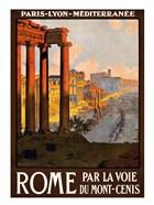 Rome par la voie du Mont-Cenis, travel poster 1920