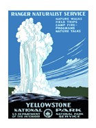 Yellowstone National Park poster 1938