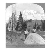 Washington - Mount Rainier - resting at Camp Muir, before Gibralter Rock 1922