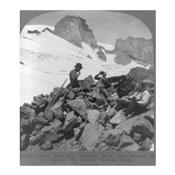 Washington - Mount Rainier Toiling up a snowfield