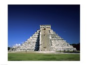 Tourists climbing on a pyramid, El Castillo, Chichen Itza Mayan, Yucatan, Mexico