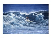 Man Surfing off of the Coast of Hawaii