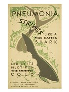 Pneumonia strikes like a man eating shark led by its pilot fish the common cold Consult your physician