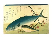 Hiroshige A Shoal of Fishes Fugu Yellowtail