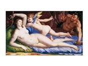 Bronzino Venus, Cupido and Satyr
