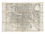 1780 Esnauts and Rapilly Case Map of Paris