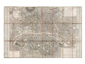 1797 Jean Map of Paris and the Faubourgs, France