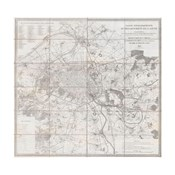 1852 Andriveau Goujon Map of Paris and Environs, France