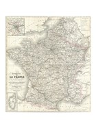 1852 Levasseur Map of France