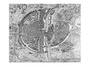 Map of Paris circa 1550