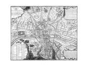 Plan de Paris - black and white