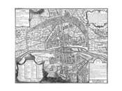 Plan de Paris - black and white map