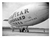 Goodyear Blimp at Washington Air Post, 1938