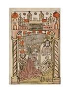 Nativity Scene with Depiction of Trinity