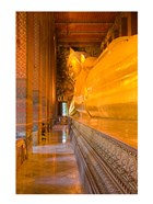 Statue of reclining Buddha in a Temple