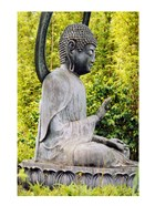 USA, California, San Francisco, Golden Gate Park, Buddha Statue