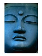 Close-up of the face of a Buddha Statue, Tokyo, Honshu, Japan
