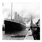 Titanic at the docks of Southampton