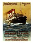 Poster of the Hamburg South American Steamship Company