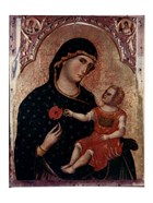 Madonna Holding Rose with Child