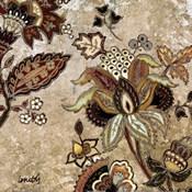 European Floral on Beige II
