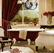 Red Chandelier Bath II