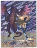 Mastrangelo - Dragon and Blue Knight Size 6x8