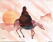 On Horse at Sunrise