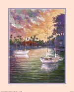 La foret - Three Sailboats Size 16x20