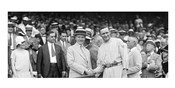 US President Calvin Coolidge Presenting the American League Diploma to Walter Johnson