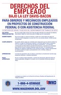 Employee Rights Under the Davis-Bacon Act Spanish Version 2012