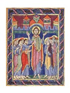 Albani Psalter, appearance of the Risen One on the eighth day