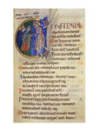 Initial C from 105th Psalm In Albani Psalter