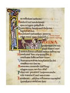 Initial L from Psalm 118, verse 109th In Albani Psalter