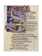 Psalm 136,  Initial S In Albani Psalter