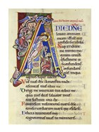 Psalm 24, Initial A. In Albani Psalter
