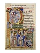 Our Father, initial P In Albani Psalter