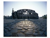 View of an old ruin, Colosseum, Rome, Italy