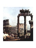 Colosseum and the ruins of the Temple of Castor et Pollux