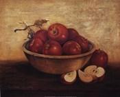 Apples in Wood Bowl