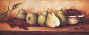 Fruit Panel with Green Pears