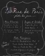 French Menu I