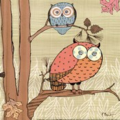 Pastel Owls I - mini