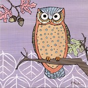 Pastel Owls II - mini