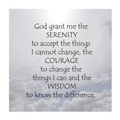 Serenity Prayer - clouds